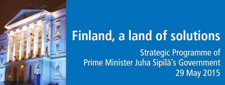 The ground-breaking work by the Government of Finland on setting government-wide priorities is enriching the NS work on the role of the Centre of Government.
